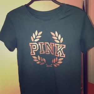 PINK Victoria's secret shirt/ Rose Gold Logo